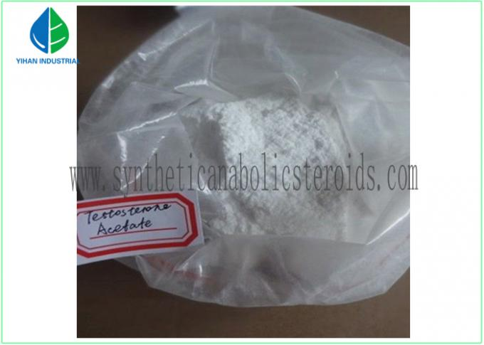 Testosterone Steroid Hormone Testosterone Acetate White Powder CAS 1045-69-8 For Muscle Gaining
